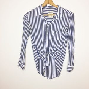 American Eagle striped button down top size XS